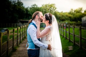 Bride and groom at kent life