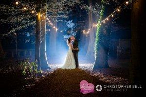 wedding photo with flash